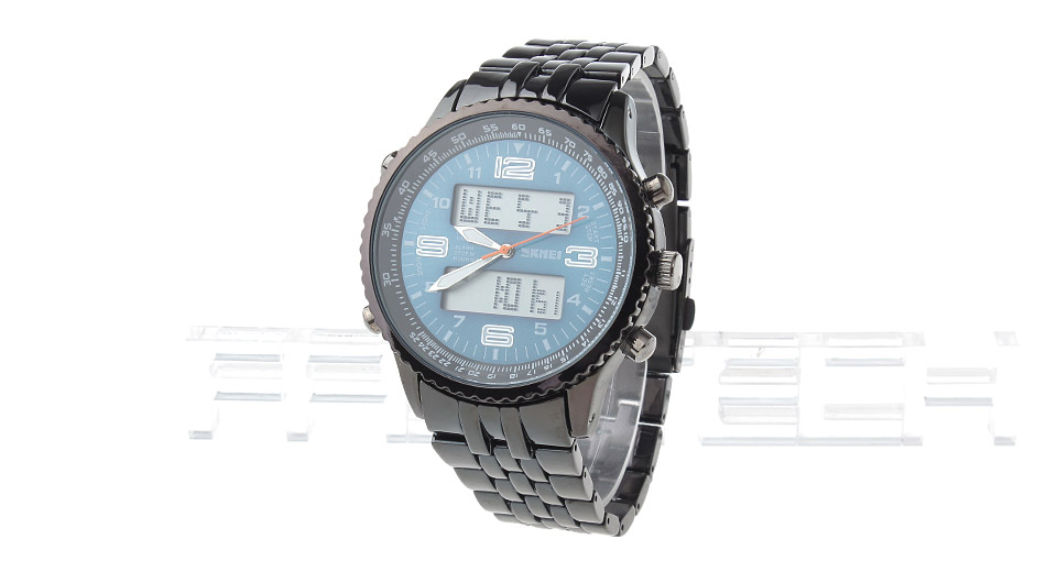 Skmei 1032 Men's Sports Waterproof Analog + Digital Dual Mode Wrist Watch