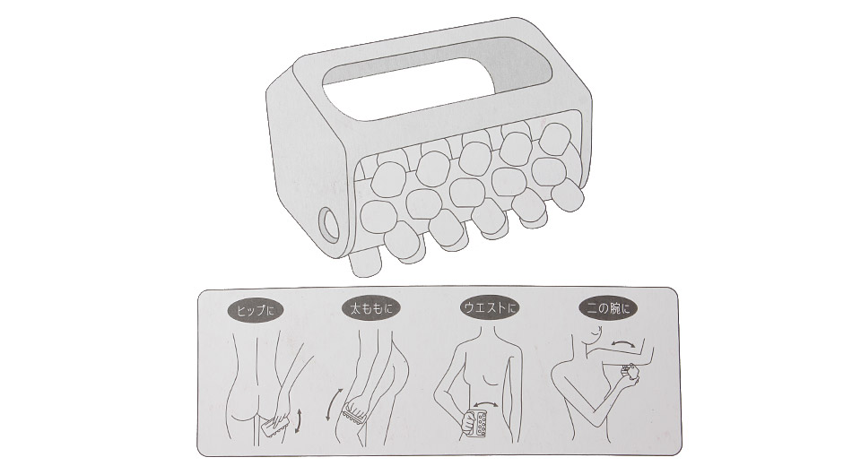 Slimming Body Cell Roller Massager w/ 40pcs Concave-Convex Pellets