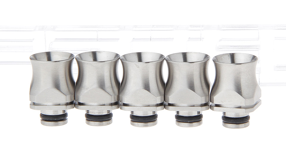 Product Image: stainless-steel-wide-bore-510-drip-tip-5-pack