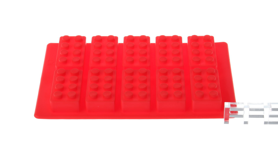 Building blocks styled silicone 10 cup diy ice mold for Ice block construction