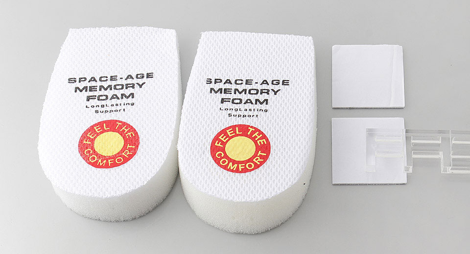 Space-Age Memory Foam Heel Support Cushions (Pair)