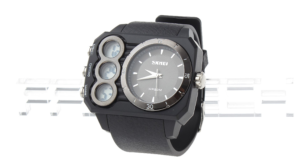 Skmei 1090 Men's Sports Analog + LED Digital Dual Mode Wrist Watch