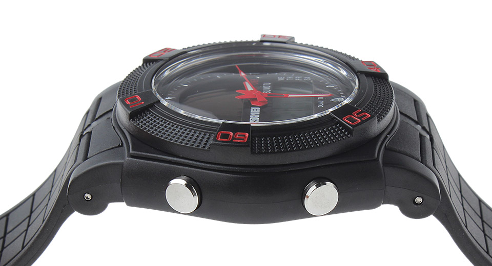 Skmei 0981 Unisex Analog + LED Digital Dual Mode Wrist Watch