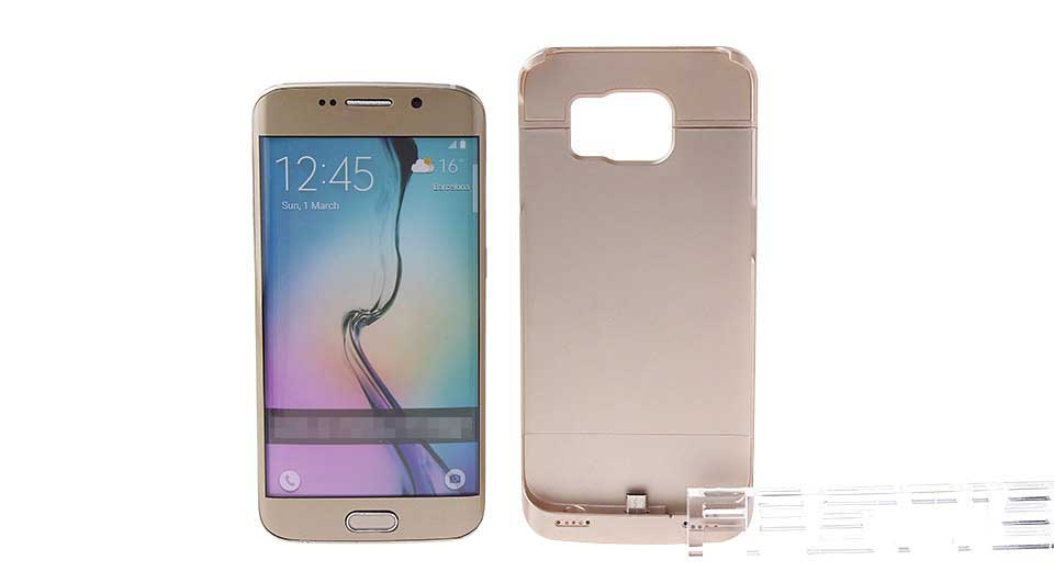 """4200mAh"" Rechargeable External Battery Back Case for Samsung Galaxy S6 Edge"