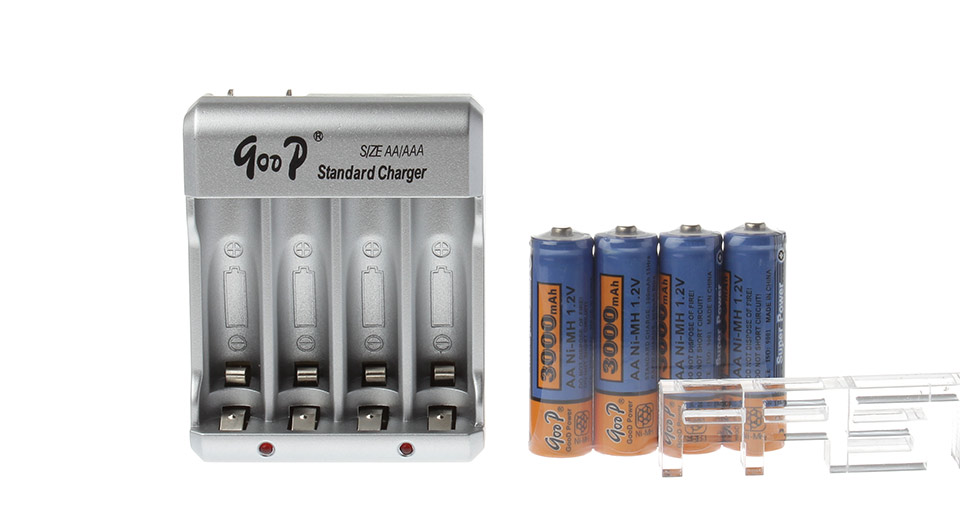 authentic goop gd825 4slot aa aaa battery charger w 4