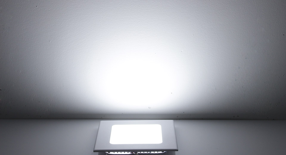 6W 30*2835 390LM 6500K Pure White LED Square Panel Light