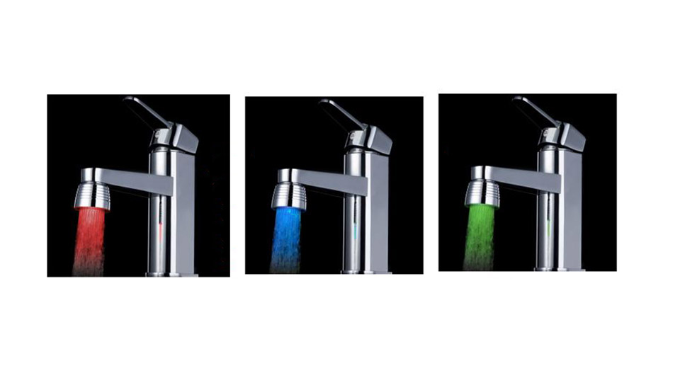 7 Colors Automatic Color Changing Water Stream Faucet Tap