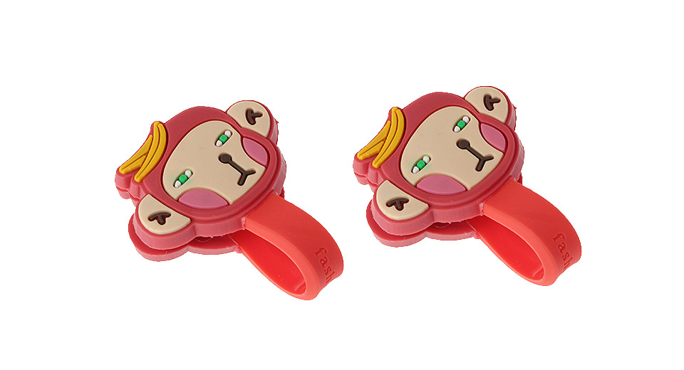 Monkey Styled Silicone Cable Winder Organizer (2-Pack)