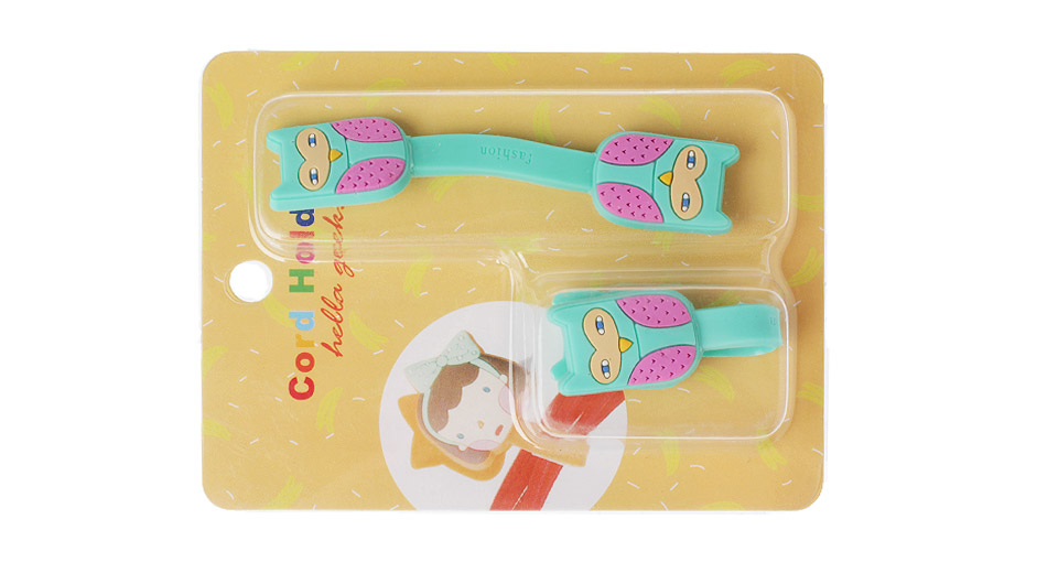 Owl Styled Silicone Cable Winder Organizer (2-Pack)