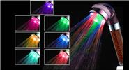 Anionic SPA 7 Colors LED Light Automatic Temperature Sensor Bath Shower Head