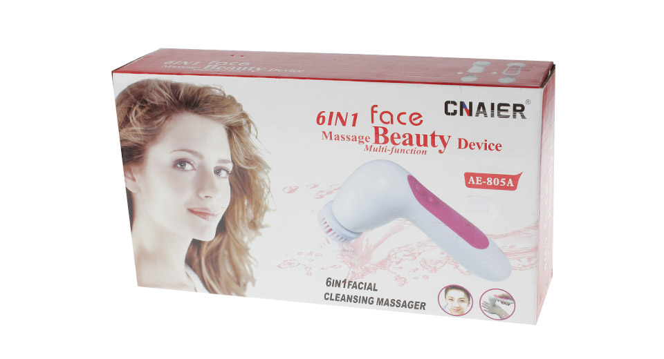 ... CNAIER AE-805A 6-in-1 Electric Beauty Facial Cleaning Massager