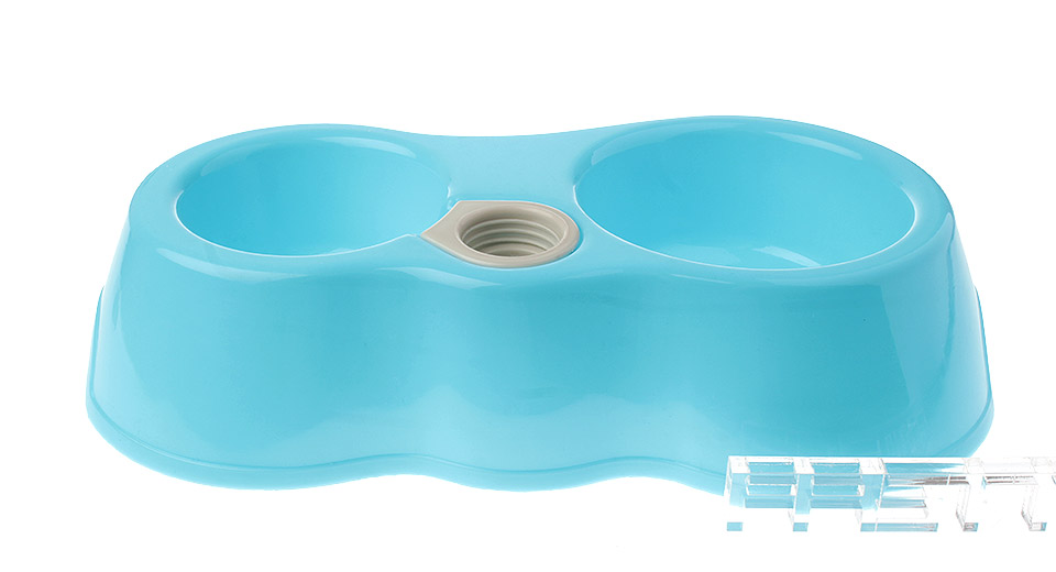 Product Image: plastic-dual-bowl-w-water-bottle-holder-for-pet