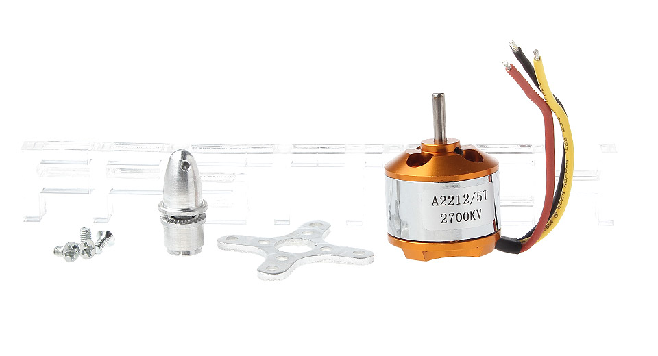 $6 42 A2212 5T 2700KV Brushless Outrunner Motor for RC Aircraft - 7cm cable  length at FastTech - Worldwide Free Shipping