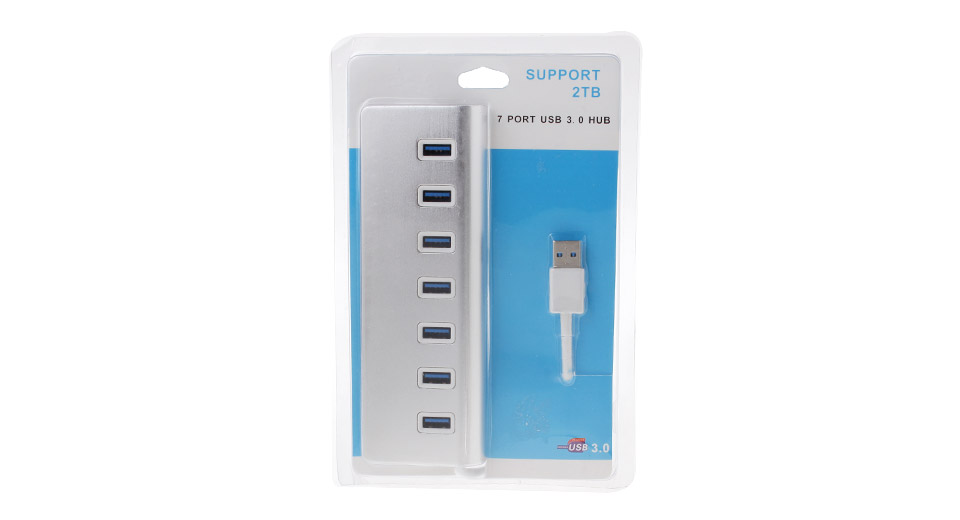 High Speed 7-Port USB 3.0 Hub
