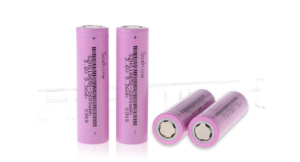 Product Image: authentic-soshine-18650-3-6v-2600mah-rechargeable