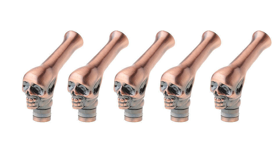 Product Image: skull-styled-curved-copper-510-drip-tip-5-pack
