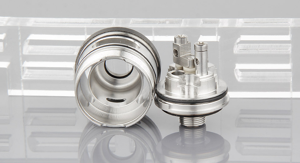 Alpine Style RDTA Silver 3mL 24mm Rebuildable Dripping