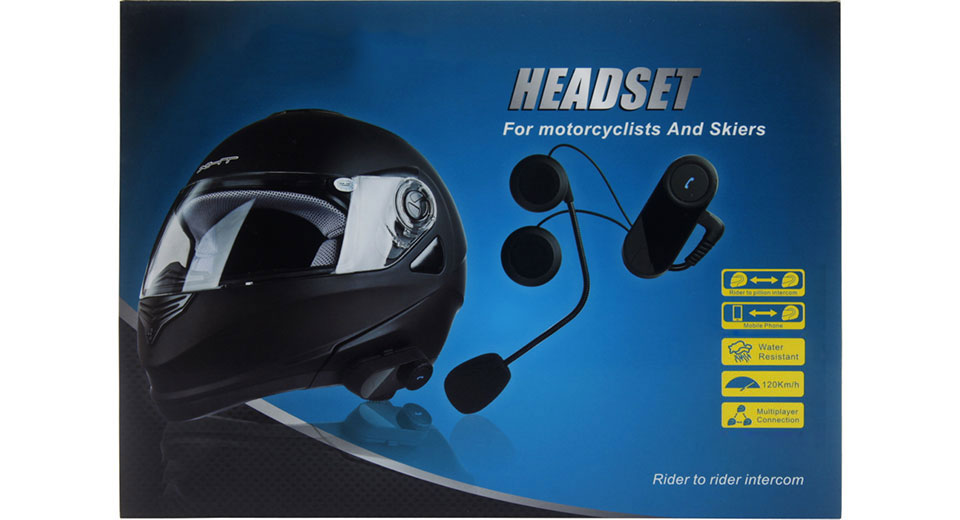 Motorcycle Helmet Bluetooth V3.0+EDR Interphone Headset