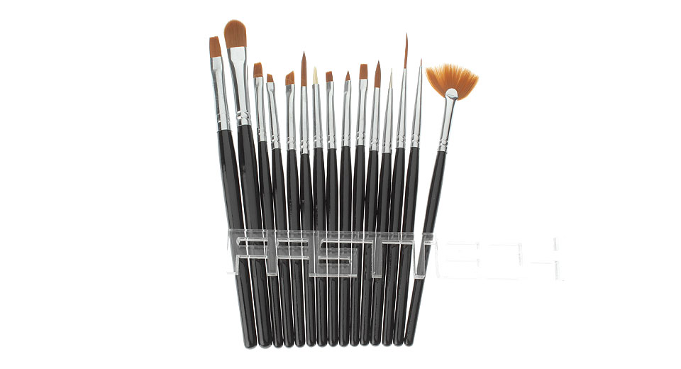$12.65 Nail Art Painting Polish Brush Dotting Drawing Tool Set (15 ...