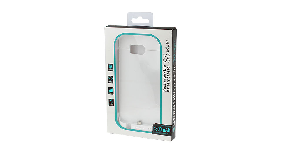 "Rechargeable External Battery Case for Samsung Galaxy S6 Edge+ (""4800mAh"")"