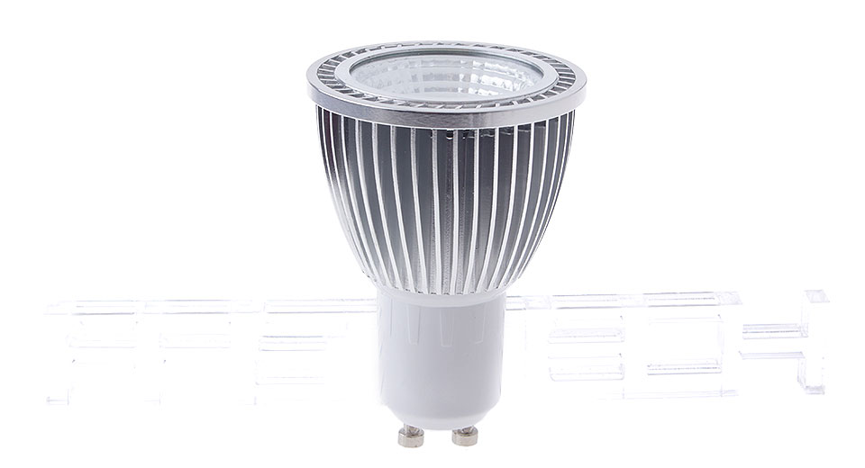 gu10 5w 1*cob 300lm 6000-6500k pure white led spotlight