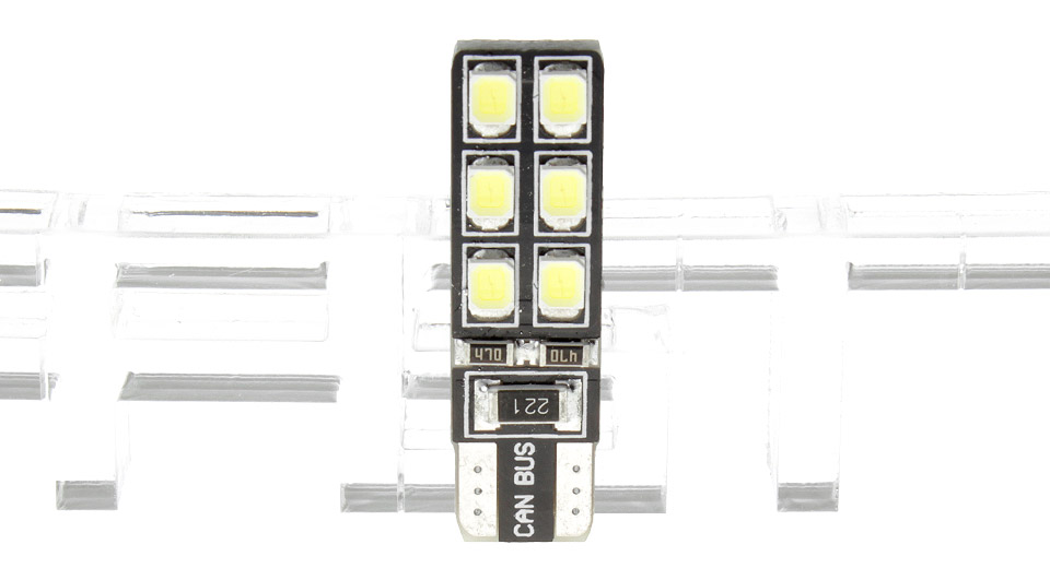 Product Image: t10-4w-12-2835-1350lm-6000-6500k-pure-white-car