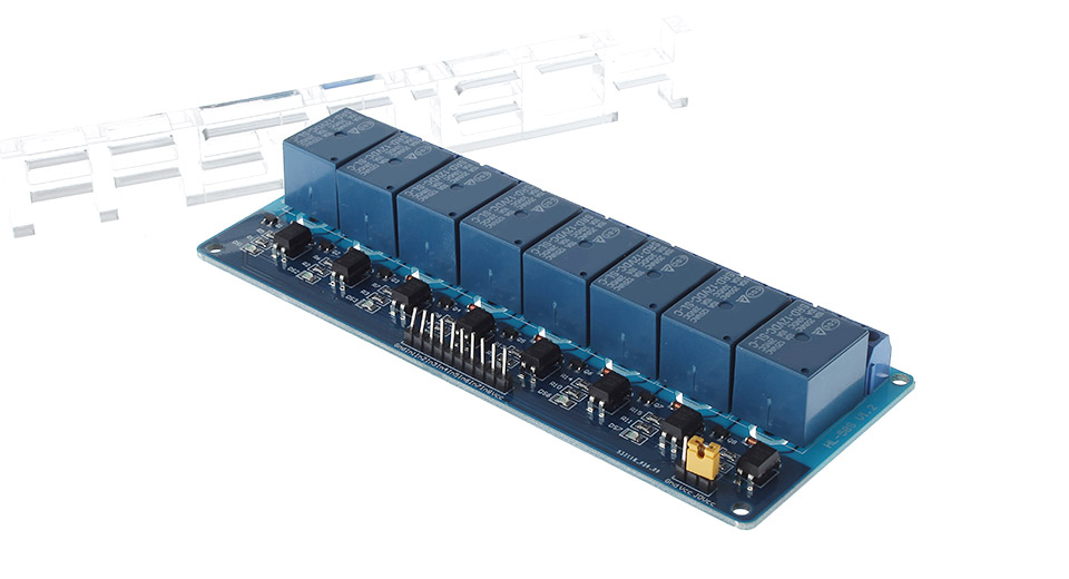 8-Channel 12V/250V AC Relay Module