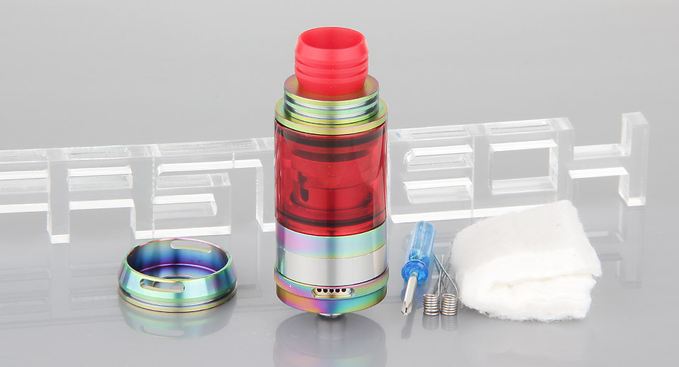 $7.58 GT-T V2 RTA Rebuildable Tank Atomizer - stainless steel + glass / 23mm diameter at FastTech - Great Gadgets, Great Prices