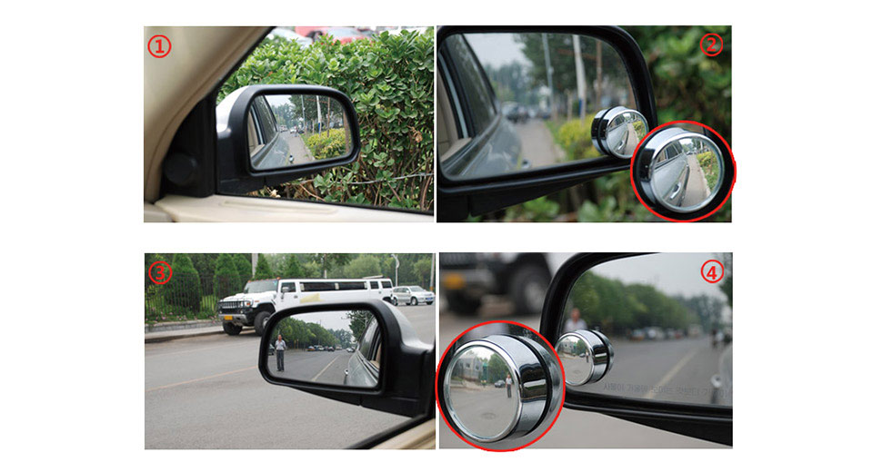 SHUNWEI SD-2401 Car Rearview Mirror (Pair)