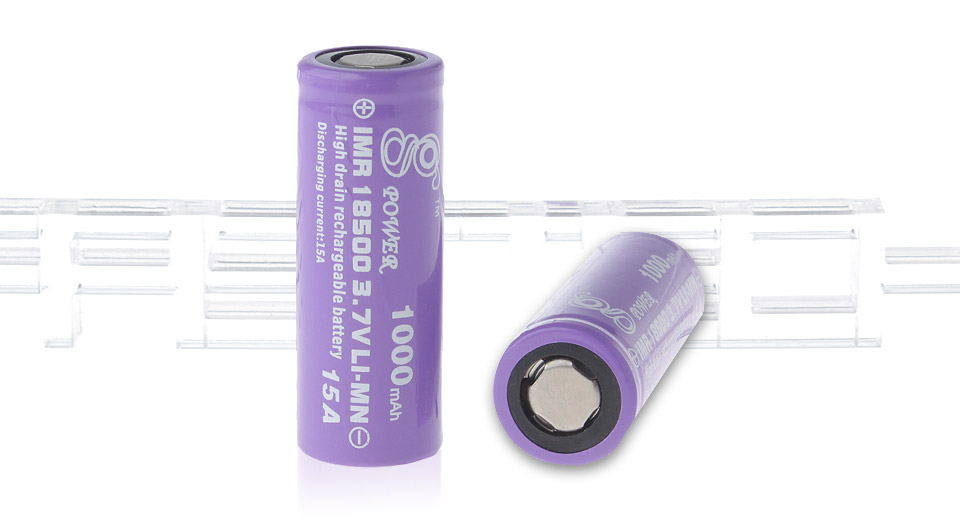 Product Image: gpower-imr-18500-3-7v-1000mah-rechargeable-li-mn