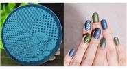 DIY Manicure Template Nail Art Printing Stamp Plate Stamper