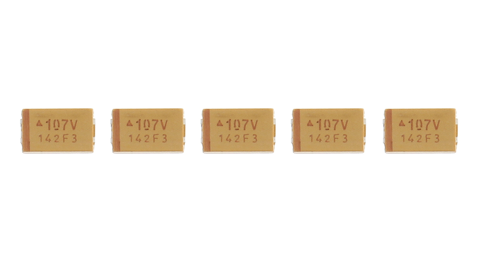 Product Image: avx-7343-100uf-107v-smd-tantalum-capacitor-5-pack
