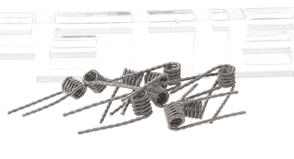 2 54 authentic vapesoon fused clapton pre-coiled wires for rebuildable atomizers  10-pack