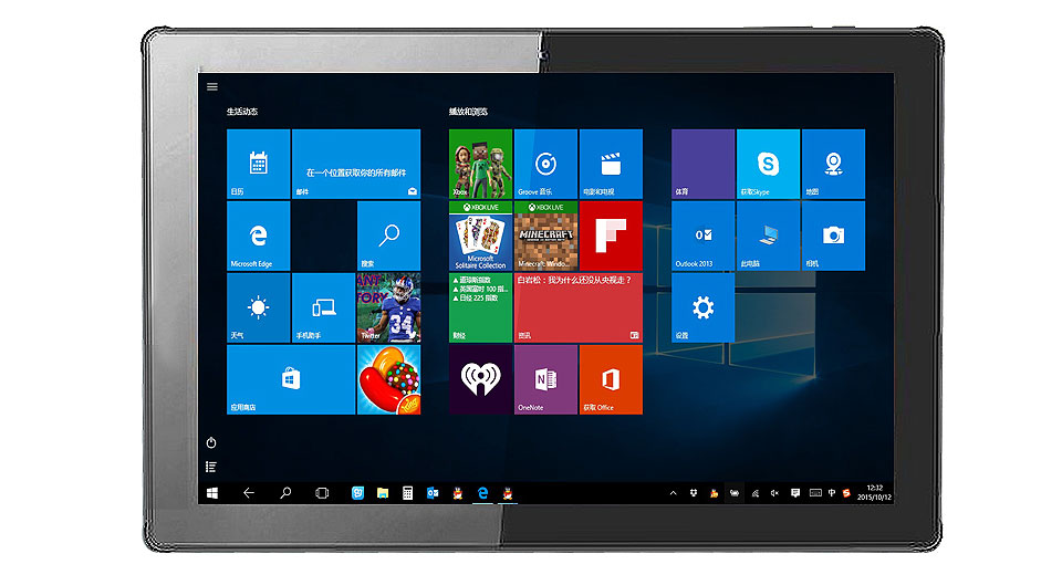 "Yuandao/Vido W10D 10.1"" IPS Quad-Core Windows 10 + Android 4.4 KitKat Tablet PC (32GB)"