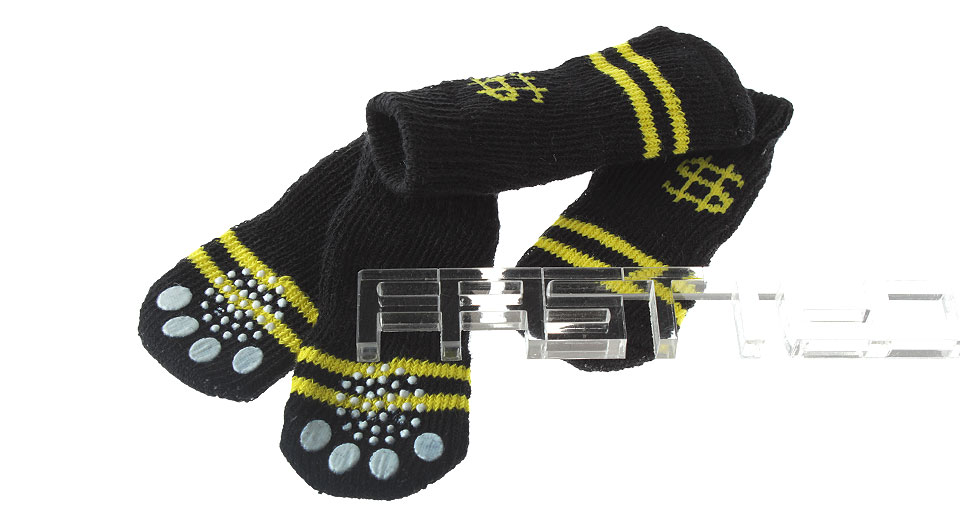 Product Image: anti-slip-polyester-pet-dog-sock-size-m-4-pack