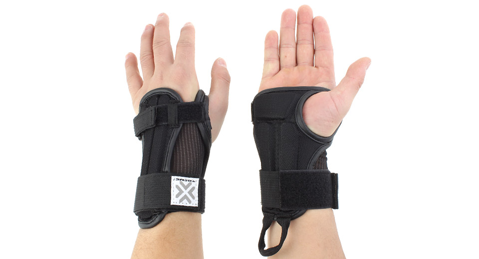 how to wear skating wrist guards