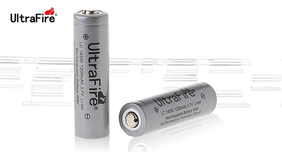 Product Image: ultrafire-inr-14500-3-7v-1200mah-rechargeable-li