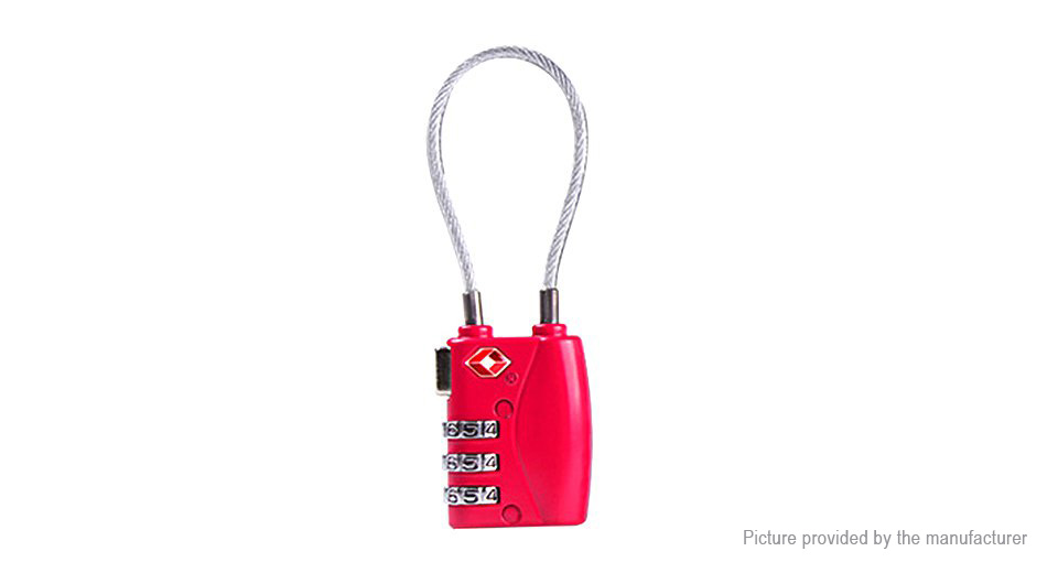 TSA Approved 3-Digit Password Security Combination Padlock