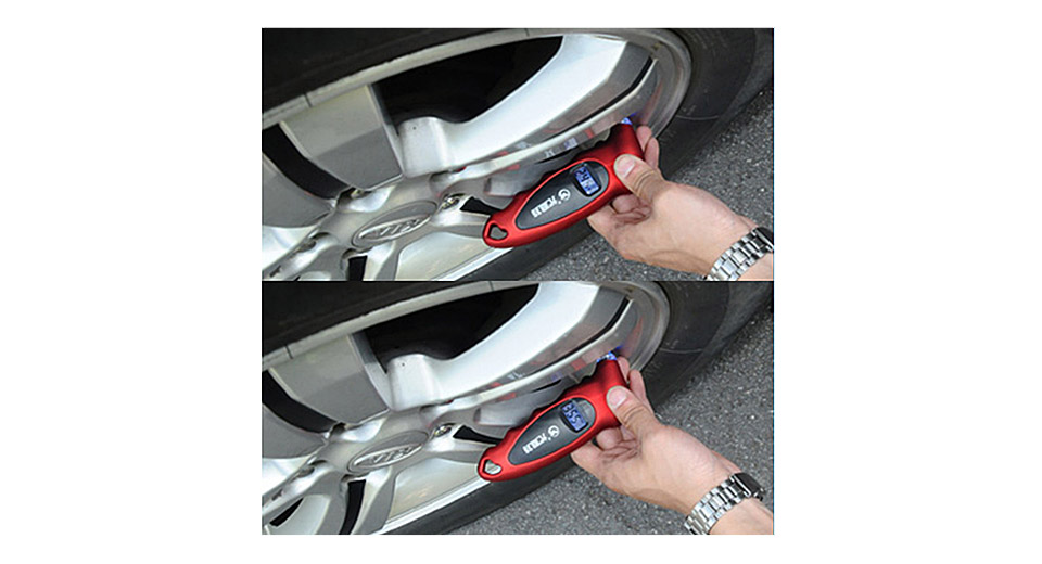 "UNIT YTL-6028 0.85"" LCD Digital Car Tire Pressure Gauge"