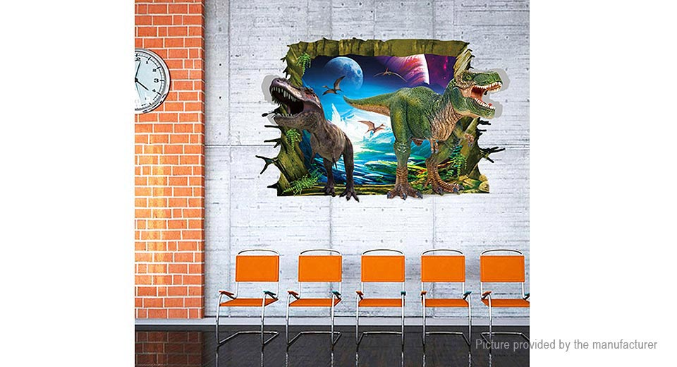 3D Jurassic Park Dinosaur Styled Wall Sticker Decoration Decal