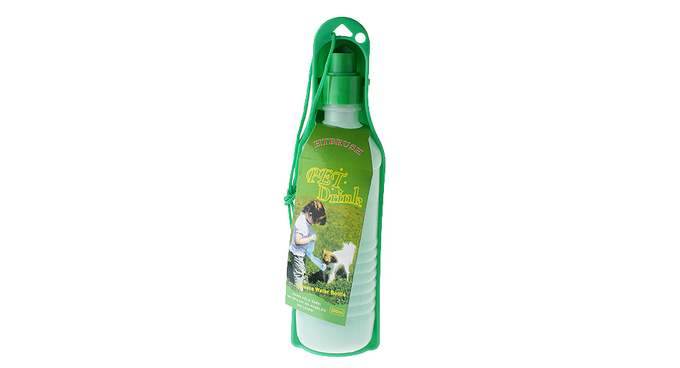 Pet Dog Outdoor Travel Foldable Feeding Water Bottle (500ml)