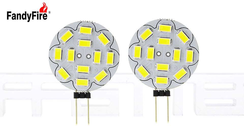 FandyFire G4 3W 12*5730 580LM 6500K Pure White LED Light Module (2-Pack)
