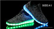 Unisex LED Light Lace Up Sports Shoes Sneakers (Size 41/Pair)
