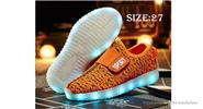 Unisex Kids LED Light Up Slip-On Sports Shoes Sneakers (Size 27/Pair)