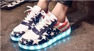 Unisex LED Light Up Lace Up Couple Shoes Sneakers (Size 36/Pair)