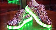 Kids LED Light Up Slip-On Luminous Shoes Sneakers (Size 25/Pink)
