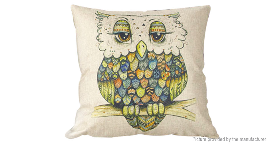 Product Image: owl-pattern-linen-square-decorative-throw
