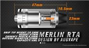 Authentic Augvape Merlin RTA Rebuildable Tank Atomizer