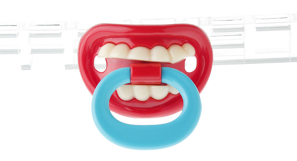 Product Image: baby-funny-gagtooth-lip-pacifier-dummy-teether