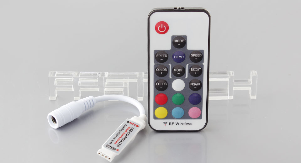 257 17 key rf wireless remote controller for rgb led strip light 17 key rf wireless remote controller for rgb led strip light mozeypictures Image collections